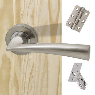 Image: Mars Handle Pack - Polished Chrome - Satin Nickel
