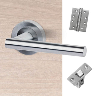 Image: Hyperion Door Handle Pack - Satin Chrome