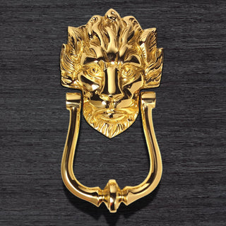 Image: MB10 Old English Lion Head, No 10 Door Knocker, 229mm