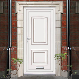 Image: Exterior Maree Solid Pvc Door