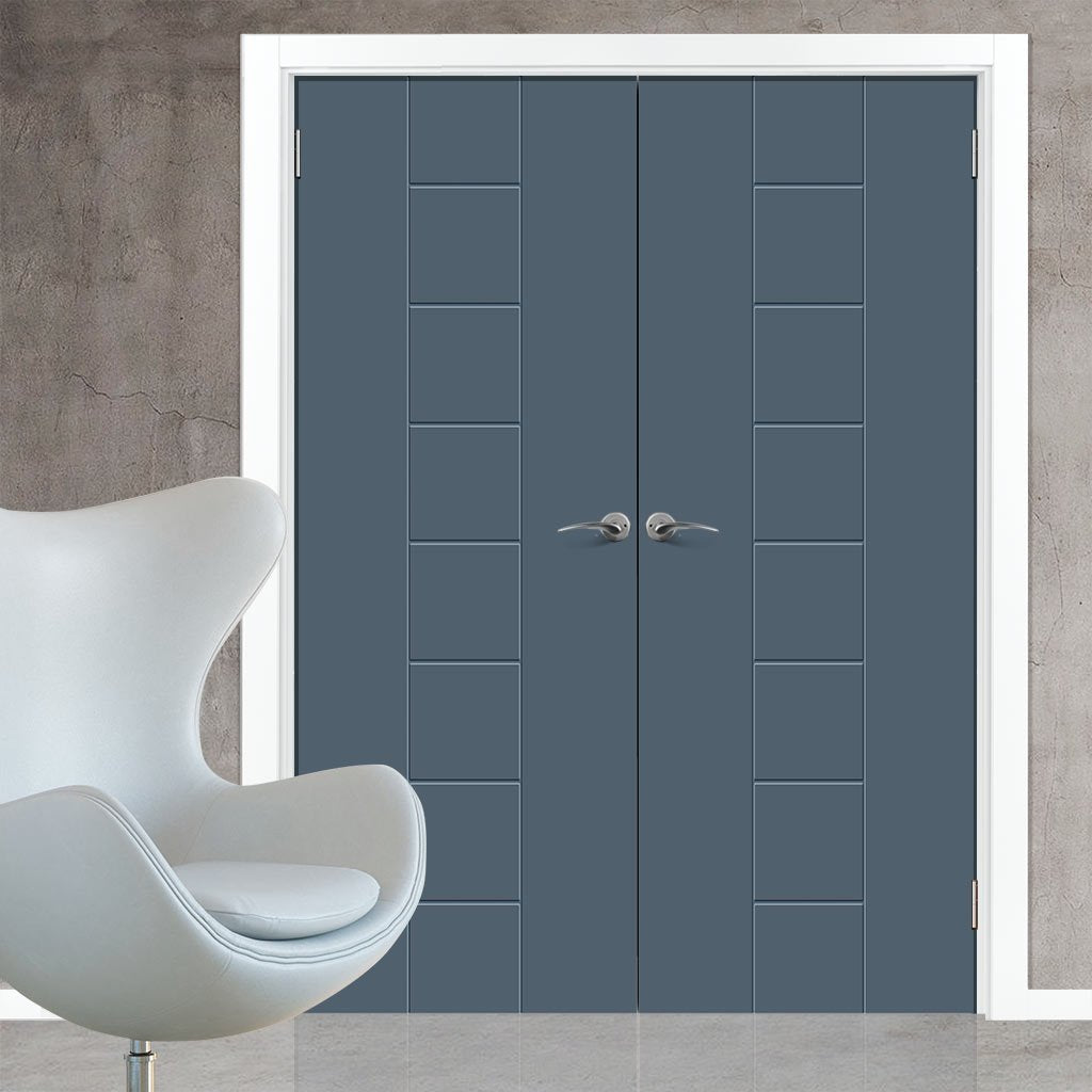 Prefinished Bespoke Messina Flush Door Pair - Choose Your Colour