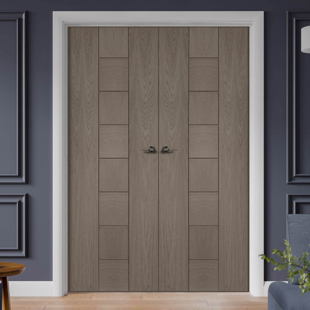 Prefinished Messina Oak Door Pair - Choose Your Colour