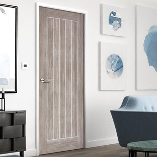 Image: Laminate Mexicano Light Grey Door - Prefinished