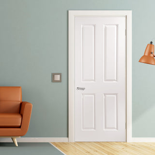 Image: JELD-WEN Internal Atherton Middleweight Smooth Door - White - Moulded Range