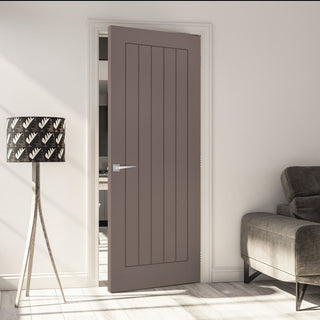 Image: Prefinished Mocha Brown Colour Ely FD30 Fire Door