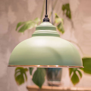 Image: The Harborne Pendant Ceiling Light Fitting in Sage Green
