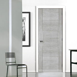 Image: Montreal Light Grey Ash Fire Door - 1/2 Hour Fire Rated - Prefinished