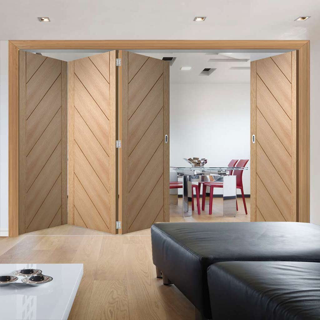 Bespoke Thrufold Monza Oak Folding 3+1 Door