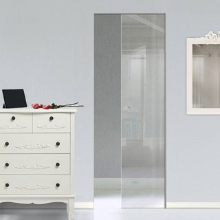 Image: Moor 8mm Clear Glass - Single Absolute Pocket Door