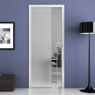 Image: Moor 8mm Obscure Glass - Single Evokit Glass Pocket Door