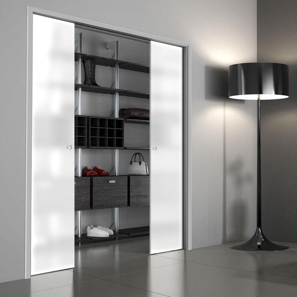 Moor 8mm Obscure Glass - Double Evokit Pocket Door