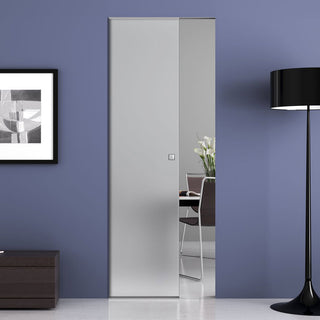 Image: Moor 8mm Obscure Glass - Single Absolute Pocket Door