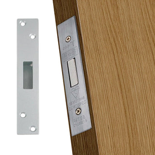 Image: 64mm Stainless Polished Brass: Mortice Deadlock for Timber Doors