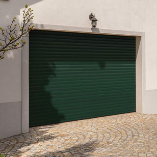 Image: Gliderol Electric Insulated Roller Garage Door from 1900 to 2134mm Wide - Moss Green