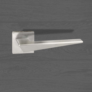 Image: Forme Naxos Designer Lever on Minimal Square Rose - Satin Chrome