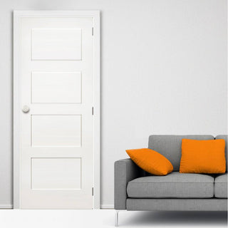 Image: Coventry White Primed Shaker Fire Door - 1/2 Hour Fire Rated