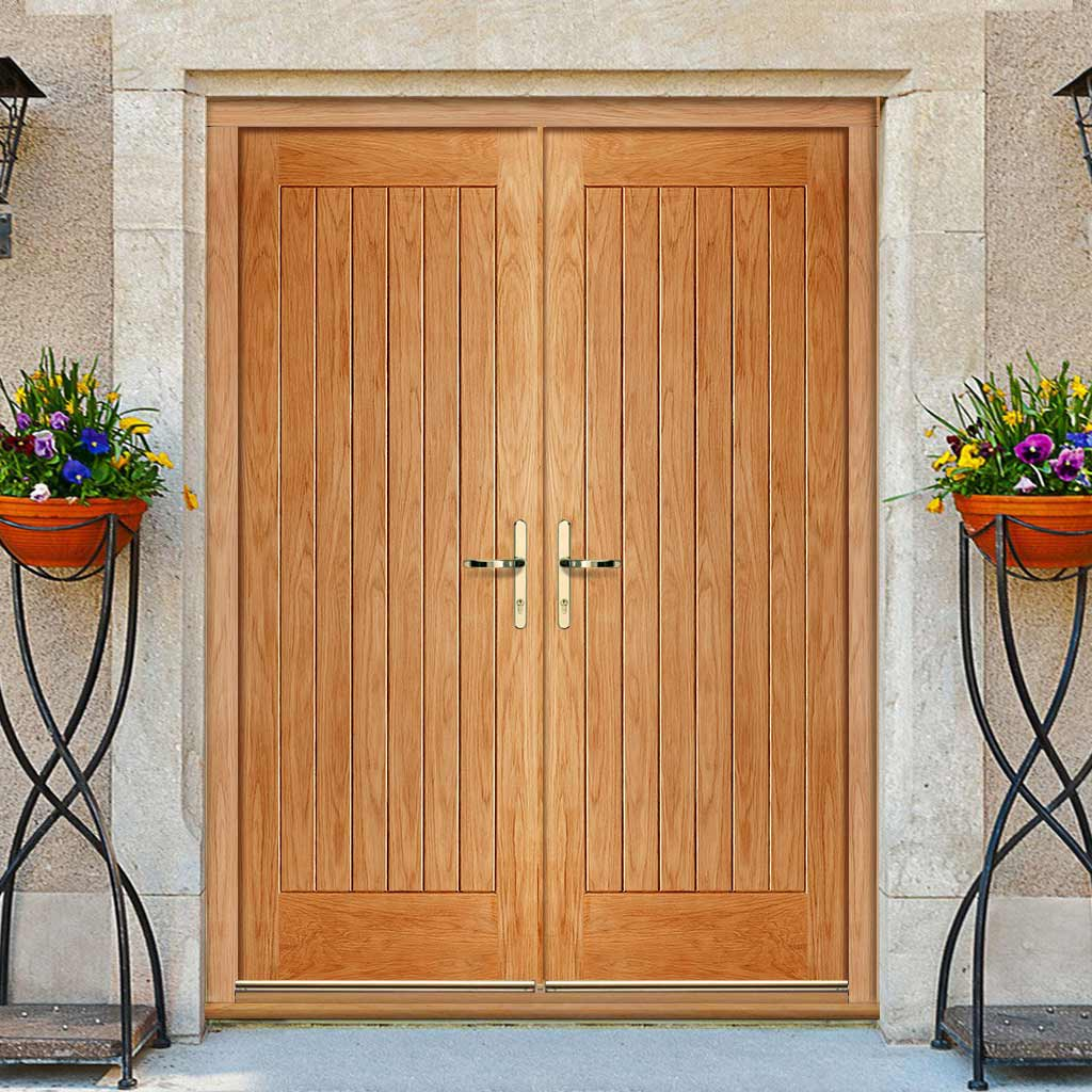 Norfolk Exterior Oak Double Door and Frame Set, From LPD Joinery