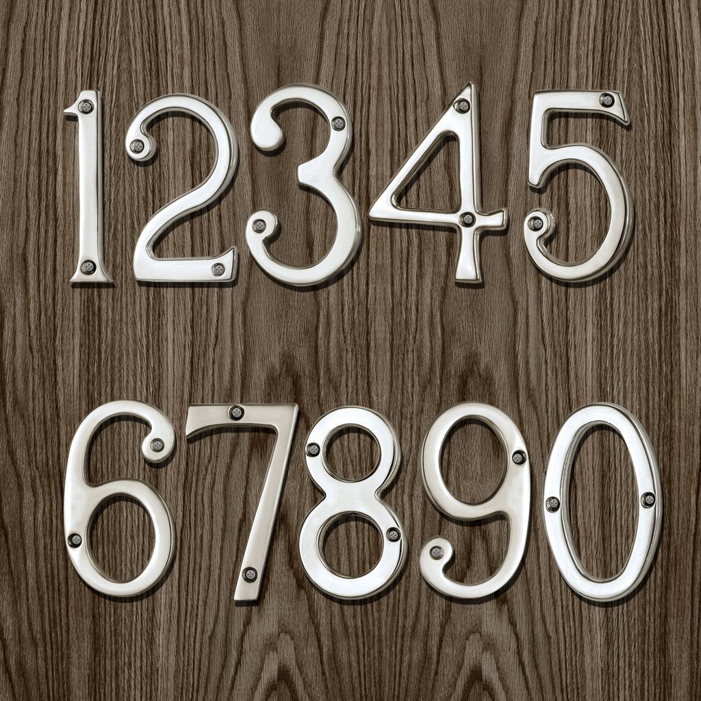 Chrome Plated Numerals - 76mm in Size