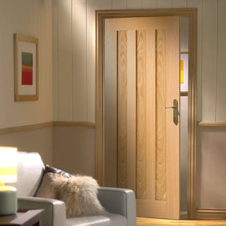 Image: idaho oak 3 solid panel door