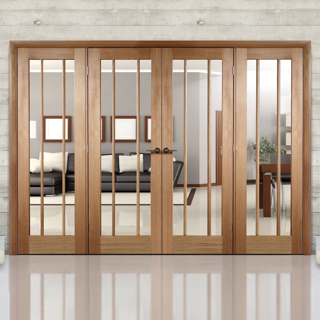 Easi-Frame Oak Door Set - GOWOR-COEOP5 - 2005mm Height - 2672mm Wide.