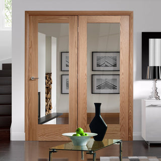 Image: Easi-Frame Oak Door Set - GOSHAP10-COEOP40L - 2005mm Height - 1736mm Wide.
