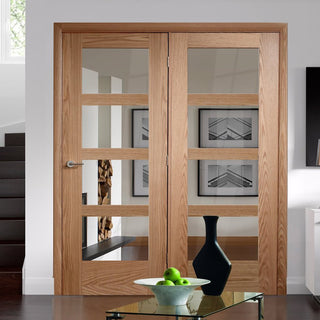 Image: Easi-Frame Oak Door Set - GOSHA4L-COEOP40L - 2005mm Height - 1736mm Wide.