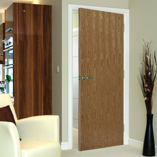 Image: J B Kind Veneered Oak Flush Fire Door - 1/2 Hour Fire Rated - Prefinished