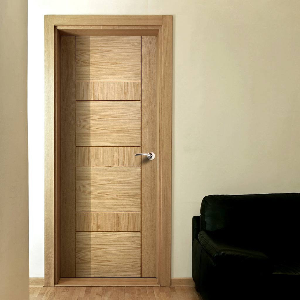 Edmonton Oak Flush Door - Prefinished