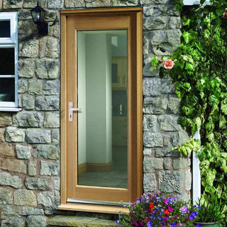 Image: Pattern 10 1L Oak Door - Clear Double Glazing