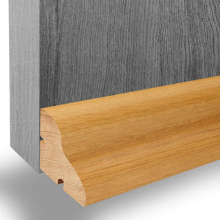 Image: Oak Weather Bar - 915mm: Oak Weather Drip - Suitable for Inward or Outward Opening Doors