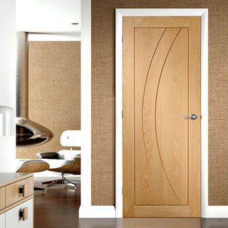 Image: Salerno Oak Flush Door - From Xl Joinery