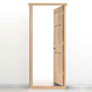 Image: Exterior LPD Traditional LPD Oak Veneered Frames - Suits Single Doors