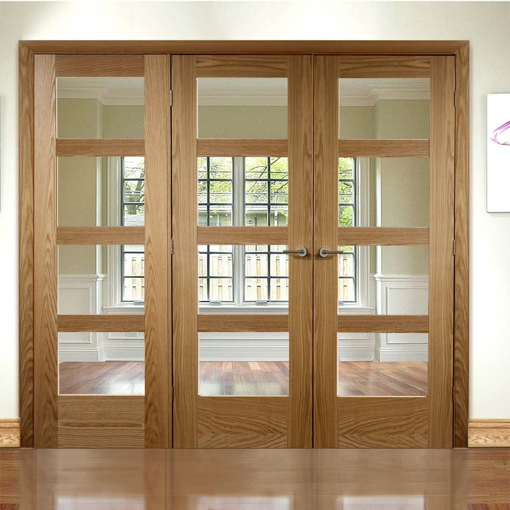 Easi-Frame Oak Door Set - GOSHA4L-COEOP20L - 2005mm Height - 2346mm Wide.