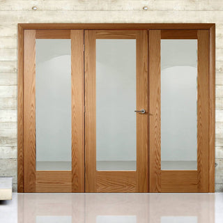 Image: Easi-Frame Oak Door Set - GOSHAP10-COEOP24 - 2005mm Height - 2366mm Wide.