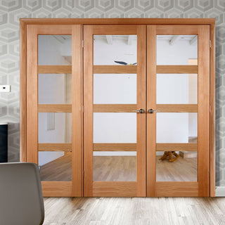 Image: Easi-Frame Oak Door Set - GOSHA4L-COEOP17L - 2005mm Height - 2270mm Wide.