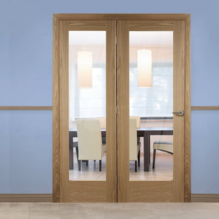 Image: Easi-Frame Oak Door Set - GOSHAP10-COEOP33L - 2005mm Height - 1508mm Wide.