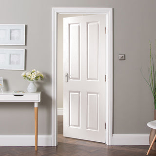 Image: JELD-WEN INTERNAL Oakfield Middleweight Woodgrain Door - Undercoated - Moulded Range