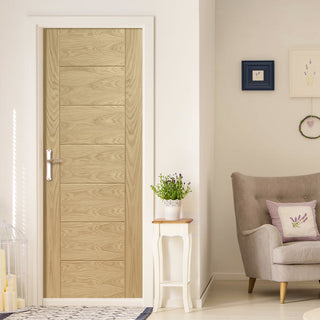 Image: Palermo Statement Solid Oak Door - Unfinished