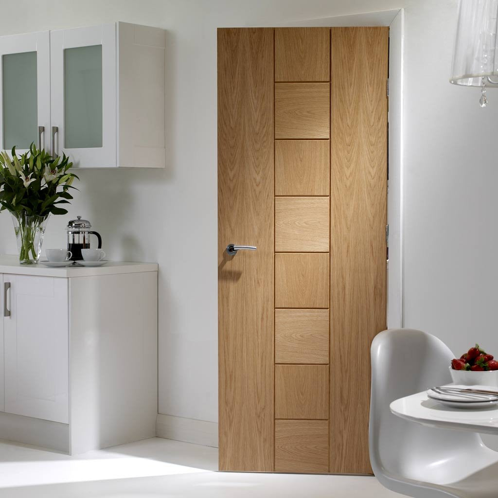 Door and Frame Kit - Messina Oak Flush Door