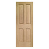 Bespoke Victorian Oak Fire Door - No Raised Mouldings - 1/2 Hour Fire Rated