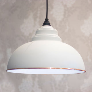 Image: The Harborne Pendant Ceiling Light Fitting in Oatmeal