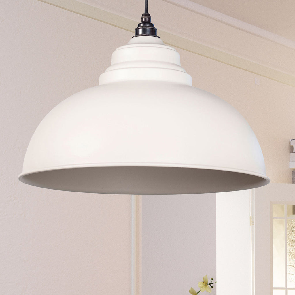 Oatmeal Full Colour Harborne Pendant Ceiling Light Fitting