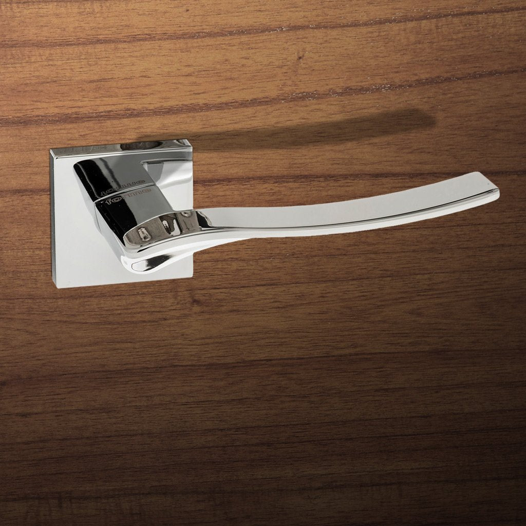 Olimpia Forme Designer Lever on Minimal Square Rose - Polished Chrome