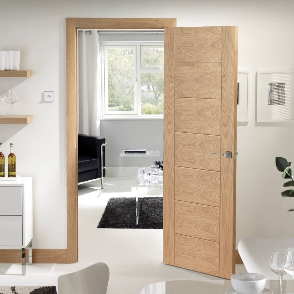 Bespoke Palermo Oak Door - Panel Effect - Prefinished