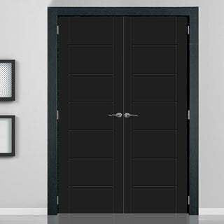 Image: Prefinished Palermo Flush Door Pair - Choose Your Colour