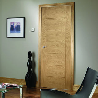 Image: Bespoke Palermo Oak Fire Door - 1/2 Hour Fire Rated