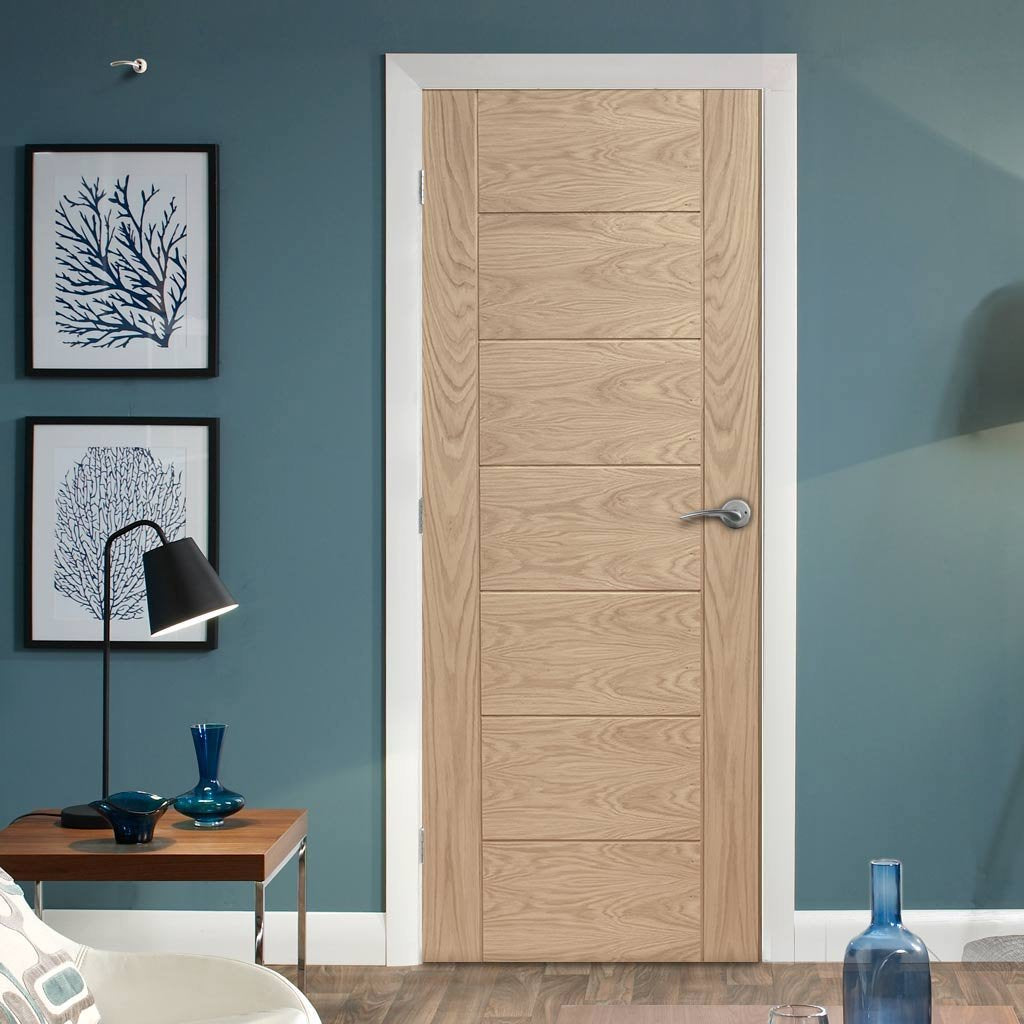 Bespoke Palermo Oak Fire Door - 1/2 Hour Fire Rated - Prefinished
