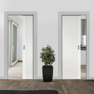 Image: Palermo Unico Evo Pocket Doors - Primed