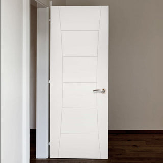 Image: Pamplona White Primed Flush Door - 1/2 Hour Fire Rated