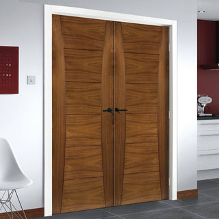 Image: Pamplona Walnut Prefinished Door Pair